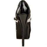 svart hvit 14,5 cm Burlesque TEEZE-02 høye damesko med høy hæl