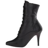 svart imitert skinn 10,5 cm VANITY-1020 dame ankelstøvler til menn