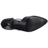 svart imitert skinn 10,5 cm VANITY-415 høye pumps damesko til menn