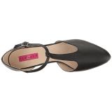 svart kunstlær 10 cm DREAM-425 store størrelser pumps sko