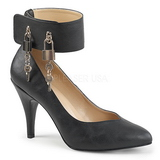svart kunstlær 10 cm DREAM-432 store størrelser pumps sko