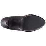 svart kunstlær 13,5 cm CHLOE-01 store størrelser pumps sko