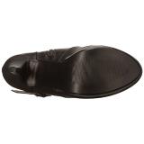 svart kunstlær 13 cm CHLOE-308 overknee støvler brede lægge