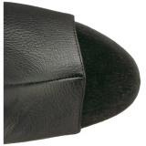 svart kunstlær 18 cm ADORE-3019 lårhøye støvletter med høy hæl