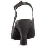 svart kunstlær 7,5 cm JENNA-02 store størrelser sandaler dame