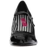 svart kunstlær 7,5 cm JENNA-06 store størrelser pumps sko