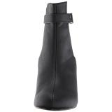 svart kunstlær 7,5 cm KIMBERLY-102 store størrelser ankelstøvletter dame