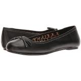 svart kunstlær ANNA-01 store størrelser ballerina sko