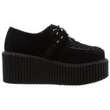 svart kunstlær CREEPER-206 platå creepers sko til kvinners