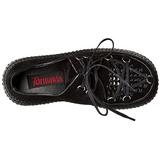 svart kunstlær CREEPER-216 platå creepers sko til kvinners