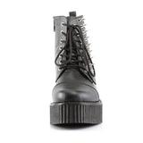 svart kunstlær CREEPER-573 platå creepers ankelstøvletter til menn