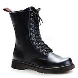 svart kunstlær DEFIANT-200 støvletter til menn med snøring