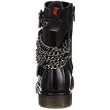 svart kunstlær DEFIANT-204 støvletter til menn med spenner