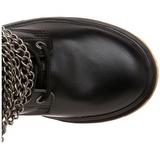 svart kunstlær DEFIANT-402 støvletter til menn med spenner