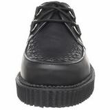 svart lær 2,5 cm CREEPER-602 platå creepers sko til menn