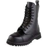 svart lær ROCKY-10 punk ankelstøvletter til menn gotisk ankelstøvletter