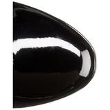 svart lakk 11 cm Funtasma EXOTICA-2000 platå høye støvler