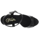 svart lakk 13 cm Fabulicious LIP-109 platå høye hæler sko