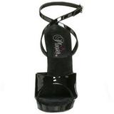 svart lakk 13 cm Fabulicious LIP-125 platå høye hæler sko