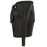 svart lakk 15,5 cm DELIGHT-601 platå høye mules