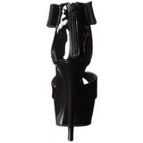 svart lakk 15 cm Pleaser DELIGHT-670-3 platå høye hæler sko