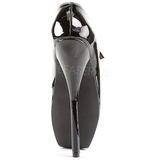 svart lakk 18 cm BALLET-08 fetish høye pumps sko