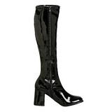 svart lakk 8,5 cm Funtasma GOGO-300 høye støvler dame