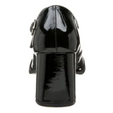 svart lakk 8 cm GOGO-50 høyhælte pumps sko