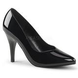 svart lakkert 10 cm DREAM-420 dame pumps sko flate hæl