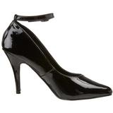 svart lakkert 10 cm VANITY-431 dame pumps med lave hæl