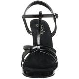 svart lakkert 12 cm FLAIR-420 high heels sko til menn