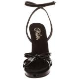 svart lakkert 12 cm FLAIR-436 high heels sko til menn