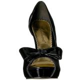 svart lakkert 12 cm LUMINA-32 høye pumps fest sko med hæl