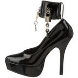 svart lakkert 13,5 cm INDULGE-534 høye pumps damesko til menn
