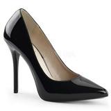svart lakkert 13 cm AMUSE-20 dame pumps sko stiletthæl