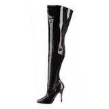 svart lakkert 13 cm SEDUCE-3010 lårhøye støvler til menn