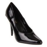 svart lakkert 13 cm SEDUCE-420V høye pumps damesko til menn