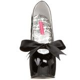 svart lakkert 14,5 cm Burlesque TEEZE-12 høye damesko med høy hæl
