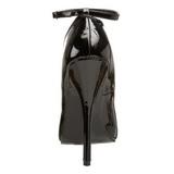 svart lakkert 15 cm DOMINA-431 høye pumps damesko til menn