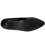 svart lakkert 5 cm FAB-420W dame pumps med lave hæl
