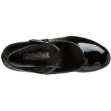 svart lakkert 5 cm SCHOOLGIRL-50 klassiske pumps sko til dame