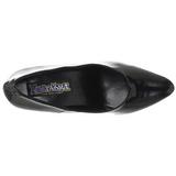 svart lakkert 7,5 cm PUMP-420 klassiske pumps sko til dame
