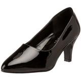 svart lakkert 8 cm DIVINE-420W høye pumps damesko til menn