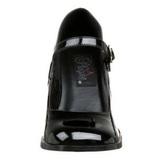svart lakkert 8 cm GOGO-50 høye pumps damesko til menn