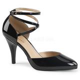 svart lakklær 10 cm DREAM-408 store størrelser pumps sko