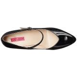 svart lakklær 10 cm DREAM-428 store størrelser pumps sko