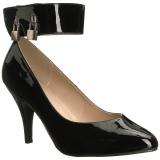 svart lakklær 10 cm DREAM-432 store størrelser pumps sko