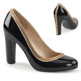 svart lakklær 10 cm QUEEN-04 store størrelser pumps sko