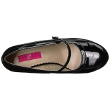svart lakklær 11,5 cm PINUP-01 store størrelser pumps sko