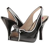 svart lakklær 11,5 cm PINUP-10 store størrelser sandaler dame